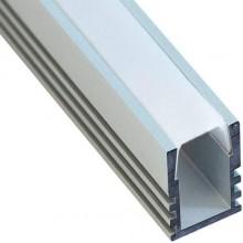 """Профиль для светодиодной ленты Feron CAB261 """"накладной"""" высокий серебро 10266"""
