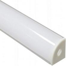 """Профиль для светодиодной ленты Feron CAB280 """"угловой круглый"""" с заглушками серебро 10299"""