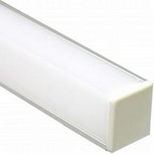 """Профиль для светодиодной ленты Feron CAB281 """"угловой квадратный"""" с заглушками серебро 10300"""