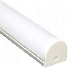 """Профиль для светодиодной ленты Feron CAB283 """"круглый широкий"""" серебро 10302"""