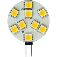 Лампа светодиодная Feron LB-16 9LED(2W) 12V G4 2700K 37*27mm (для мебельных св-ков)