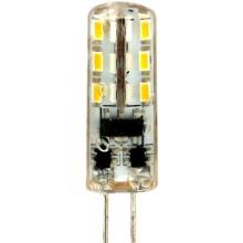 Лампа светодиодная Feron LB-420 24LED(2W) 12V G4 4000K капсула силикон