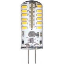 Лампа светодиодная Feron LB-422 48LED(3W) 12V G4 6400K капсула силикон 11x38mm