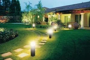 Современные садовые светильники