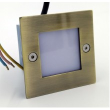 Подсветка светодиодная встраиваемая Светкомплект G 03202 бронза 71*71 мм 1Вт 4100К IP54