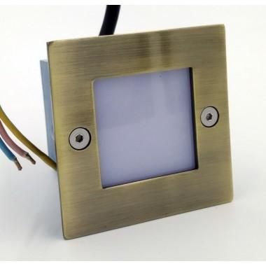 Подсветка светодиодная встраиваемая Светкомплект G 03202 бронза 71*71 мм 1Вт 3000К IP54