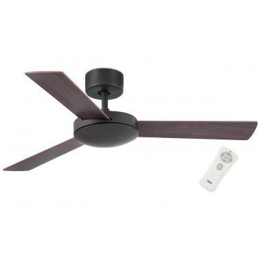Люстра с вентилятором Faro Mini Mallorca Marron 33605FAR Ø 106 см, темная ржавчина/махагон/коричневый, без плафонов, 3 лопасти
