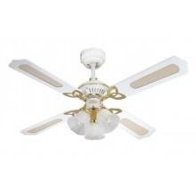 Люстра с вентилятором Westinghouse Princess Trio White 78324WES ∅ 105 см, белый, 3 плафона, 4 лопасти