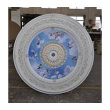 Панно 15RDL-024 AWT круглое белый антик (небо с ангелами)
