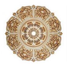 Розетка потолочная BRP61-1008-F1 белый/золото  (центральный круг + 8 лепестков)