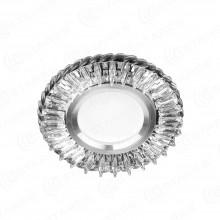 Встраиваемый светильник с LED подсветкой ES-901/GX53-125-4W/CW-CLEAR/CLEAR-220-IP20 125х35 мм 320Lm