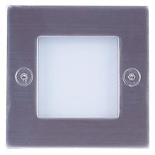 Подсветка светодиодная встраиваемая Светкомплект G 03202 матовый никель 71*71 мм 1Вт 4100К IP54