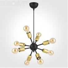 Люстра в стиле Лофт Lighting 1468 Estrella Black чёрный