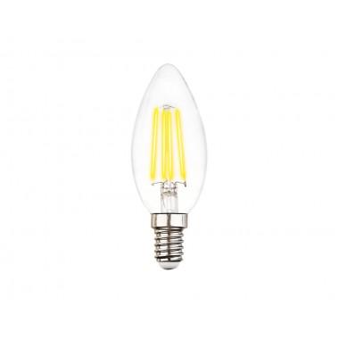 Светодиодная лампа Filament LED C37-F 6W E14 4200K (60W) 220-240V
