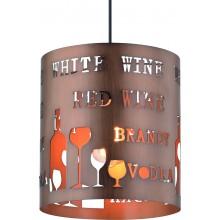 Светильник подвесной Arte Lamp A1223SP-1BR коричневый