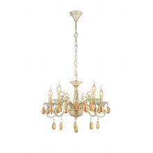 Люстра подвесная Arte Lamp A5676LM-5WG бело-золотой