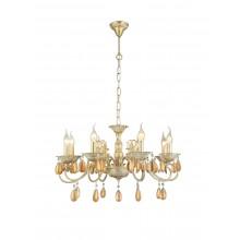 Люстра подвесная Arte Lamp A5676LM-8WG бело-золотой