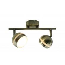 Светильник спот светодиодный Arte Lamp A6009PL-2AB античная бронза 5 Вт 3000K