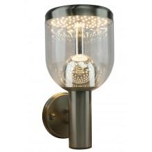 Бра уличное светодиодное Arte Lamp A8163AL-1SS матовое серебро 7 Вт 3000K
