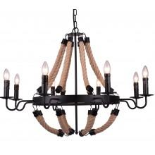 Люстра в стиле Лофт Arte Lamp A8956LM-8BK черный
