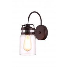 Бра в стиле Лофт Arte Lamp A9179AP-1CK шоколад
