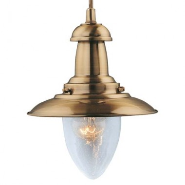 Светильник в стиле Лофт подвесной Arte Lamp Fisherman A5518SP-1AB