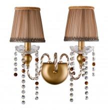 Бра Crystal Lux ALEGRIA AP2 GOLD-BROWN золотой/золотой, патина коричневая