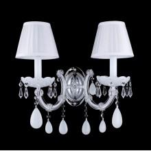 Бра Crystal Lux BLANCA AP2 хром/белый/прозрачный