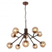 Люстра в стиле Лофт Crystal Lux BUENO SP-PL10 коричневый