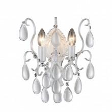 Бра Crystal Lux SEVILIA AP2 SILVER белый, серебряная патина