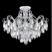 Потолочная люстра Crystal Lux SEVILIA PL6 SILVER белый, серебряная патина