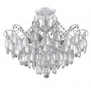 Потолочная люстра Crystal Lux SEVILIA PL9 SILVER белый, серебряная патина