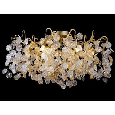 Потолочная люстра Crystal Lux TENERIFE PL8 золото матовое