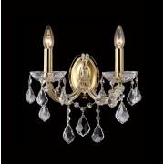 Хрустальное бра Crystal Lux TESORO AP2 золотой/прозрачный