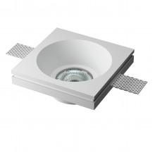 Врезной гипсовый светильник Декоратор VS-023 120*120 мм GU5.3 MR16