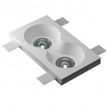 Врезной гипсовый светильник Декоратор VS-024 230*130 мм 2*GU5.3 MR16