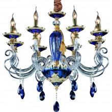 Люстра подвесная Divinare 5125/11 LM-8 SIMONA Золото, голубой
