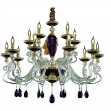 Люстра подвесная Divinare 5125/12 LM-15 SIMONA Золото, пурпурный