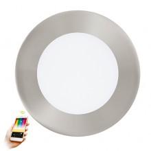 Встраиваемый светильник умный свет Eglo Fueva-C ф120 мм 32753 никель матовый LED 5,4 Вт 2765K