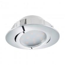 Встраиваемый светильник Eglo Pineda ф84 мм 95848 хром LED 6 Вт 3000K