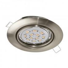 Встраиваемый светильник Eglo Peneto ф87 мм 94242 никель матовый GU10 5 Вт