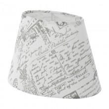 Абажур Eglo Vintage 49965 E27*E14 250х160, H160, текстиль с рисунком, белый, серый