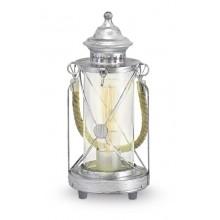 Настольная лампа Eglo Bradford 49284 серебряный состаренный E27 60 Вт