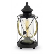 Настольная лампа Eglo Bradford 49283 черный E27 60 Вт