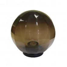 Плафон уличный Шар d200 мм ПММА Дымчатый с гранями