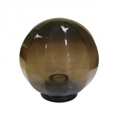 Плафон уличный Шар d250 мм ПММА Дымчатый с гранями