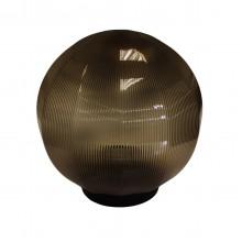 Плафон уличный Шар d200 мм ПММА Дымчатый призма с гранями
