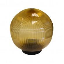 Плафон уличный Шар d200 мм ПММА Золото призма с гранями