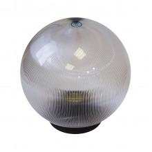 Плафон уличный Шар d200 мм ПММА Прозрачный призма
