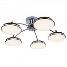 Потолочная светодиодная люстра Favourite 2472-5P Ledante хром 5*LED*18W, 5200LM, 3000-6000K с пультом